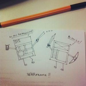 Primeira tirinha do Us, Wireframe