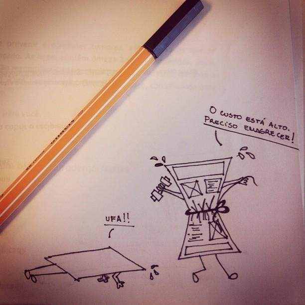 Imagem: wireframes em movimentos fitness para diminuir o custo.